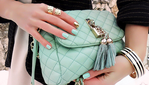 Mint-green-handbag