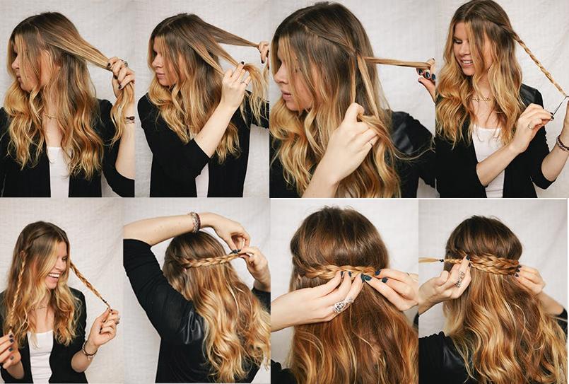 Peinados y looks para cabello largo blog de miel - Peinados faciles recogidos paso a paso ...