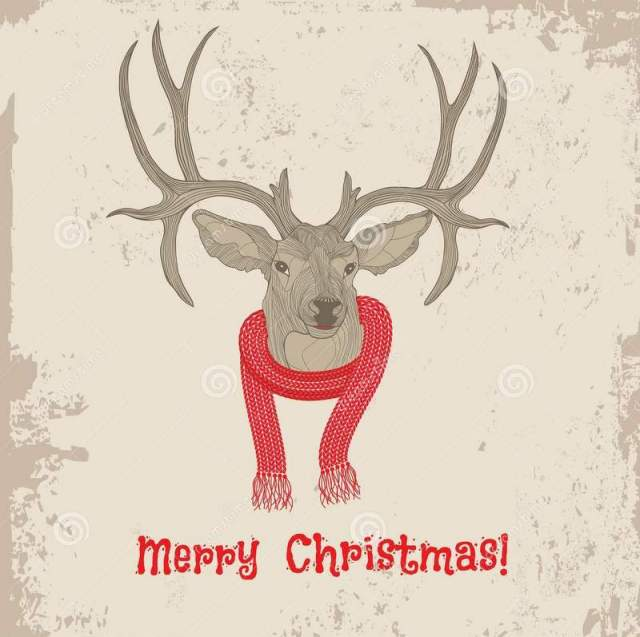 deer-head-vintage-christmas-card-vector-animal-illustration-sketch-tattoo-design-32923251